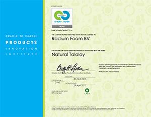 Radium Foam awarded Cradle to Cradle... the ultimate badge of sustainablity