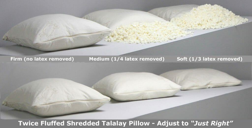 Adjustable Shredded Talalay Latex Pillow