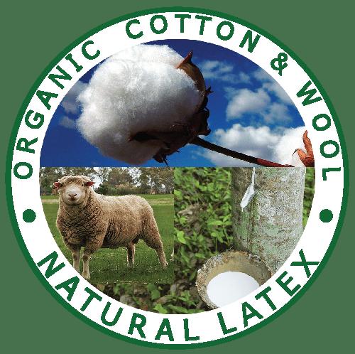 Organic Cotton and Wool. All Natural Talalay Latex