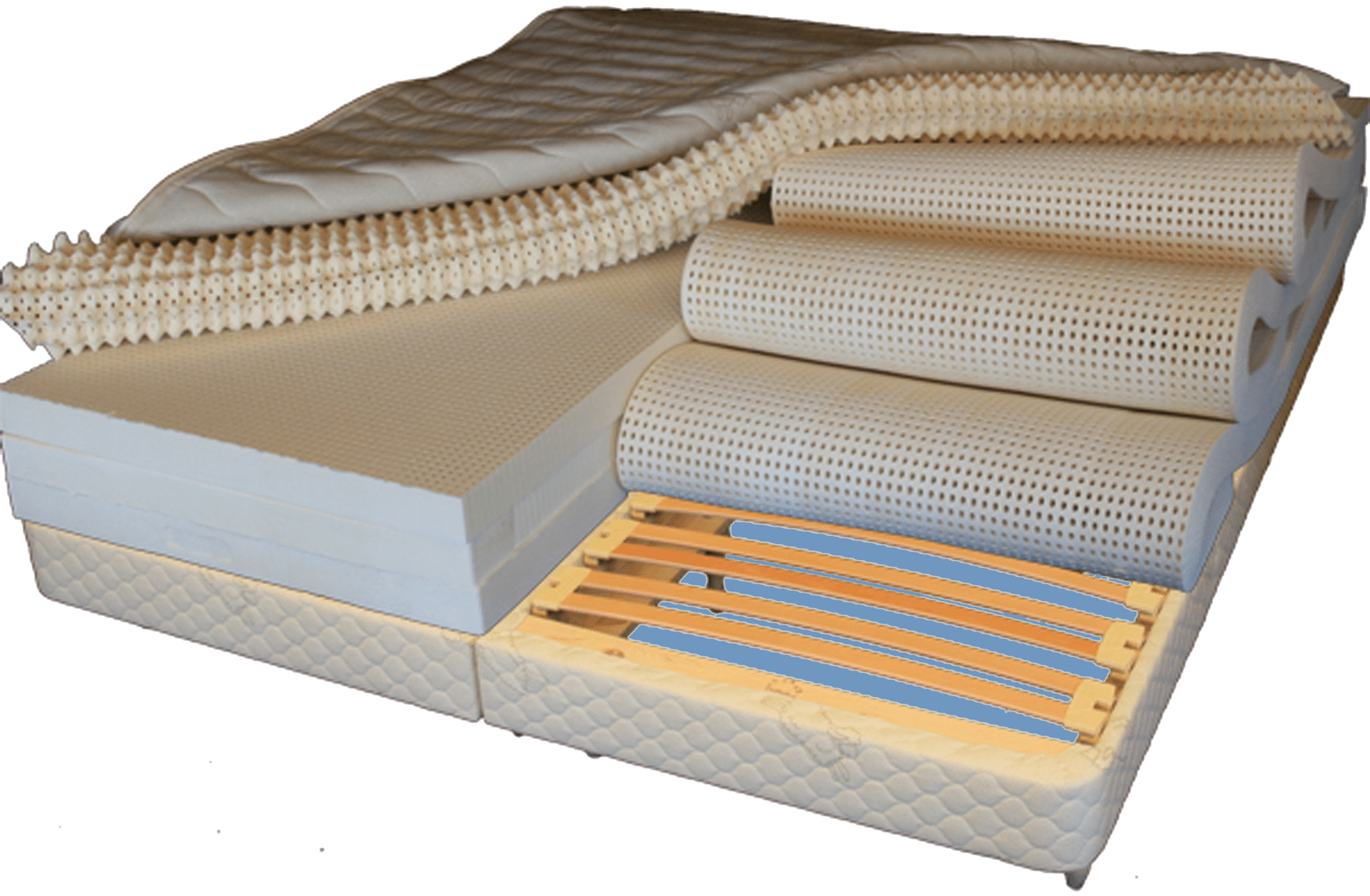 Natural Latex Mattress with Adjustable Firmness each side