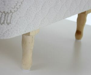 Shaped wood legs