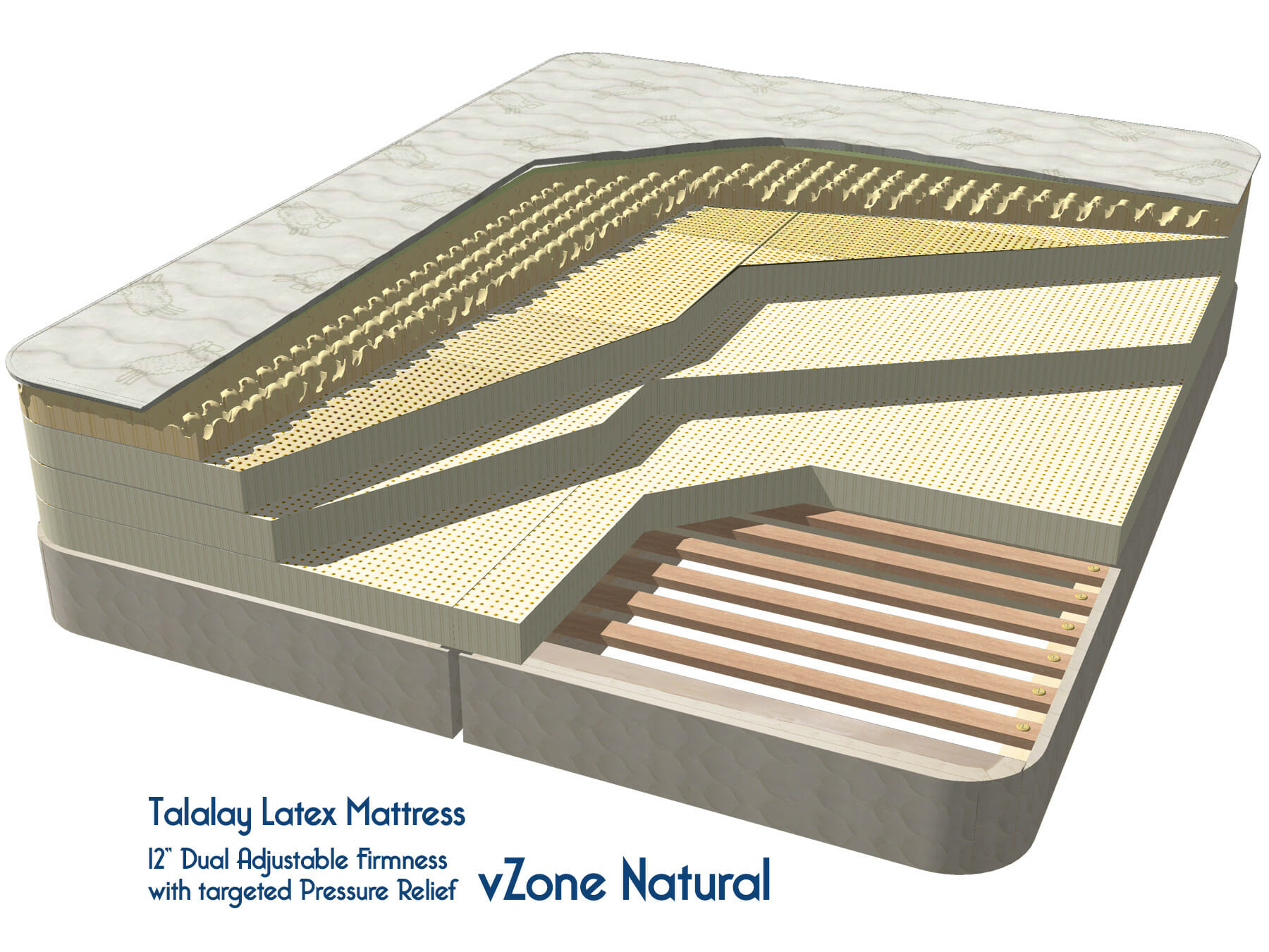 vZone Natural Latex Mattress
