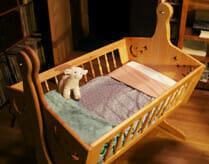 Natural Crib Mattress in Cradle
