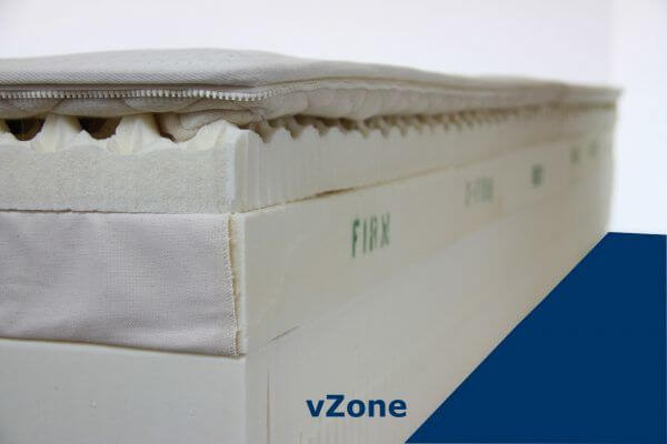 vZone Natural Talalay Latex Mattress. Personalized for you.