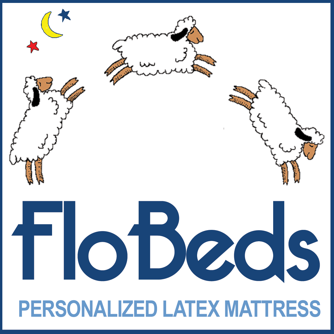 FloBeds Personalized Latex Mattress Logo