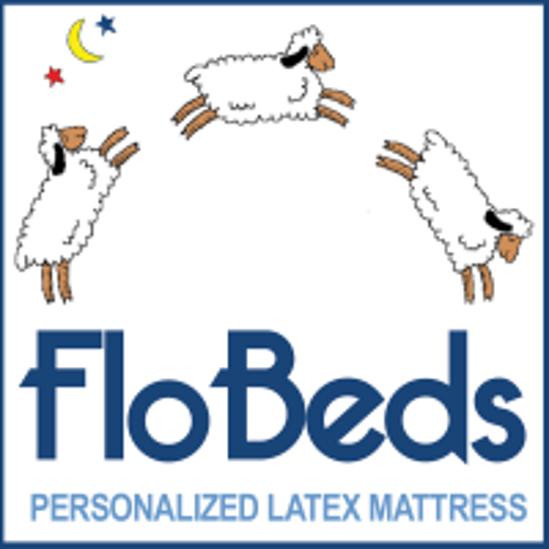 FloBeds Personalized Latex Mattress Logo
