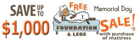 Free Foundation & Legs - Save $1,000